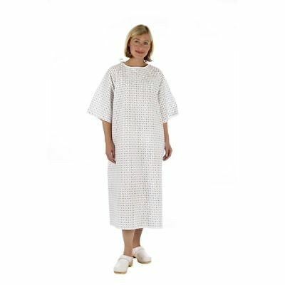 NHS Hospital Patient Gown Dress, UNISEX Universal Wrap around style Reusable