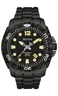 Bulova Men's Sea King UHF Quartz Black Rotating Bezel Dive 50mm Watch 98B242