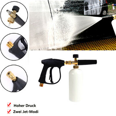New Car Garden Pressure Washer Snow Foam Lance Cleaning Washing Gun 1L Bottle UK