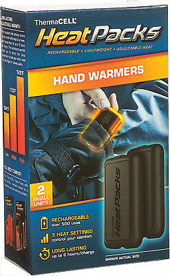 ThermaCELL Heat Pack Rechargeable Battery Powered Cold Weather Hand Warmers