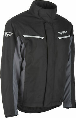 Fly Racing Aurora Winter Snowmobile Cold Weather Snow Jacket Coat Black Grey