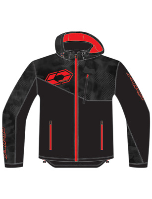 Castle X Men's Barrier G2 Tri-Lam Hooded Soft Shell Under Layer Jacket Black Red