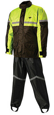 Nelson Rigg SR-6000 Stormrider Black/Yellow 2-Piece Motorcycle Riding Rain Suit