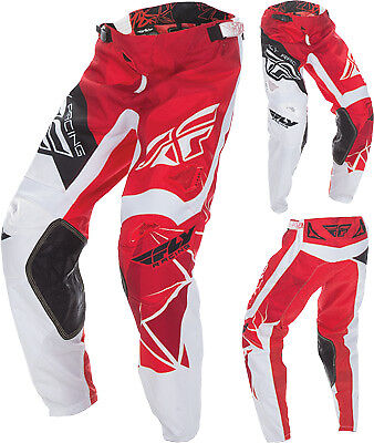 Fly Racing Kinetic Crux Red ATV MX Motocross Offroad Motorcycle Riding Pant