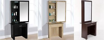 Stylish Modern Sliding Mirror Makeup Jewellery Dressing Table Cabinet 3 Colours
