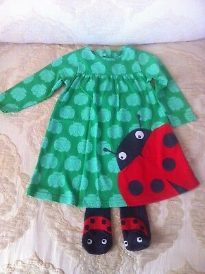 NEXT *6-9m BABY GIRLS FLORAL SUMMER Ladybird   DRESS AGE 6-9 MONTHS