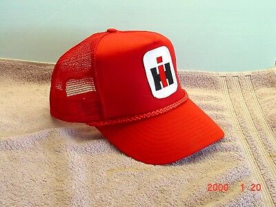 International Harvester Red Cap, new with patch
