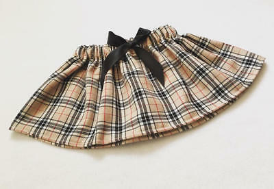 Handmade Baby Girls Skirts Clothes New UK Caramel Tartan Outfit Lot Tartan