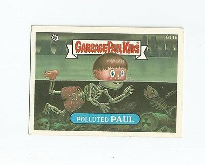Polluted Paul 611b - Garbage Kübel Kinder GPK Original Series 15 Karte 1988