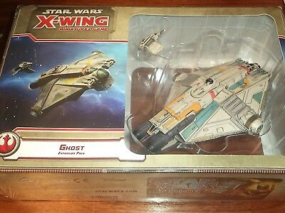 Star Wars X-Wing Ghost Expansion FFG Games Miniatures Board Game New