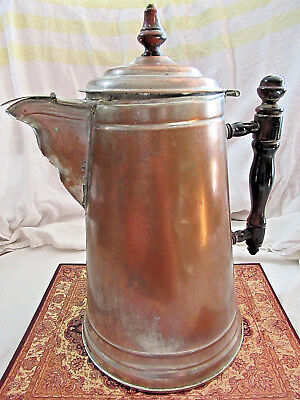 Antique VTG Tea / Water / Coffee Kettle Pot Nickel-Plated Copper Collectible #5