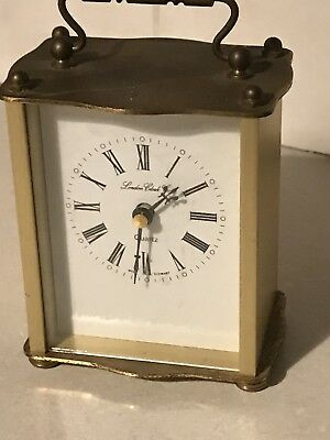 Vintage London Clock Company Brass Carriage Clock, Quartz movement