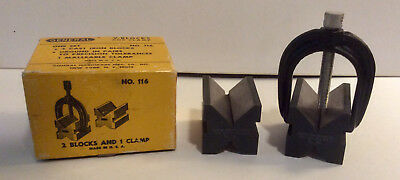 Vintage General V-Blocks & Clamp No. 116