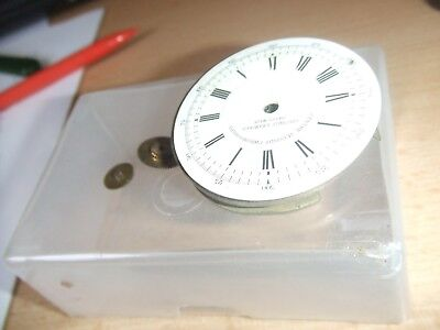 Old vintage antique Swiss Made pocket watch movement parts spares