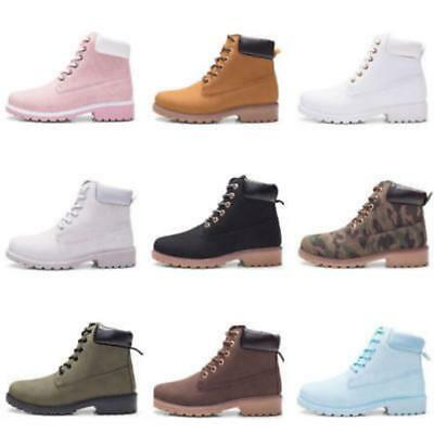 LOT Women Winter Martin Ankle Boots Outdoor Work Casual Waterproof Lace up ShoeS
