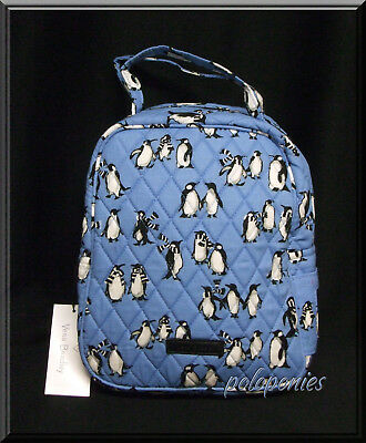 VERA BRADLEY Lunch Bunch - Playful Penguins Blue NWT - Factory Exclusive