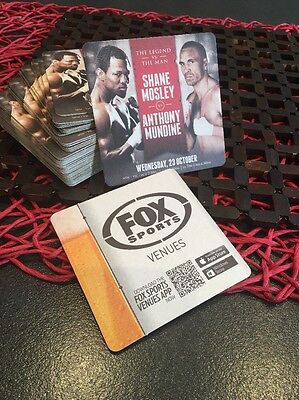 Anthony Mundine vs Shane Mosley Collectable beer coasters X 20