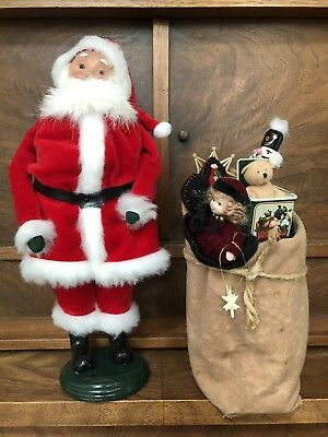 Byers Choice Carolers - Santa Claus with Sack of Toys - Signed