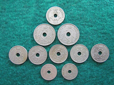 Belgium Coin Collective 1905 - 1929 Includes 5 10 & 25 Centime Coins Ungraded