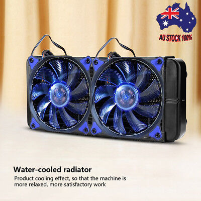 240mm 18 Tubes Computer PC Water Cooling Radiator Fit For CPU Heat Sink G1/4 AU