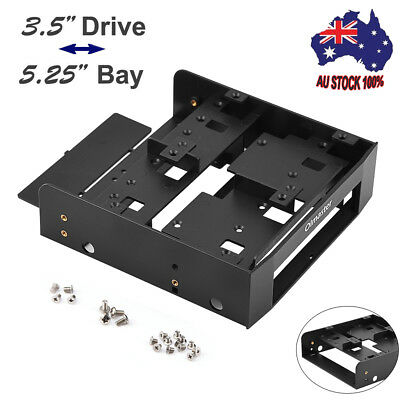 "Hot 2.5/3.5"" to 5.25"" Bay Hard Disk Drive HDD Mounting Bracket Adapter Metal Kit"