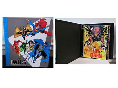 Vintage Whos Who In The DC Universe Official Heros Villians Info Pages Binders