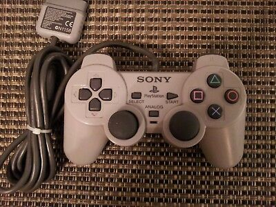 Official Sony PlayStation 1 Grey Dual Shock Controller PS1 OEM