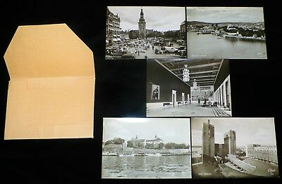 Vintage Oslo/Norway Black &White & Color Scenic &Models in Costume NOS Postcards
