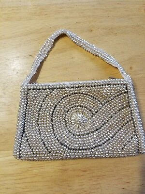 Gorgeous Small Vintage Beaded Purse / Clutch Made In Japan - La Regale
