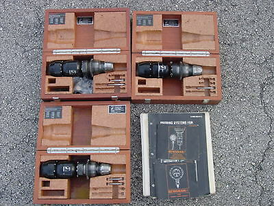 Three Renishaw Probes with Boxes, Manuals, Tips, and Spare Parts.  MP9, MP8, MP7