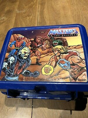 Master Of The Universe Lunchbox with No Thermos! *Rare 1985 Series Aladdin Box!