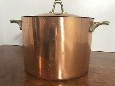 UNUSED LABELED Paul Revere Ware Copper Signature Collection 3 Quart Pot w/Lid