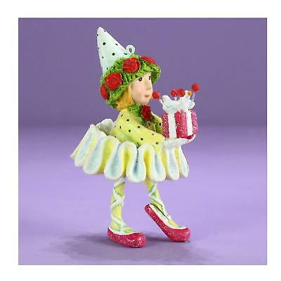 Patience Brewster H8 Christmas Dashaway Dancer's Gift Elf 3.5in Ornament 31282