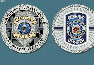 Anne Arundel County Maryland Police Reserve Officer  Challenge Coin.