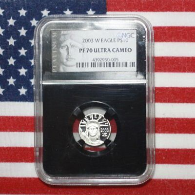 2003 W Platinum Eagle $10 NGC PF70 UC ***Rev Tye's Coin Stache*** #0005225