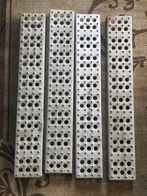 "32"" Perforated Metal Steps Sections Industrial  LOT"