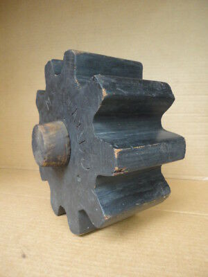 Wood Mold Foundry Pattern Antique Industrial Machinery Wooden Gear Cog Wheel 'B'