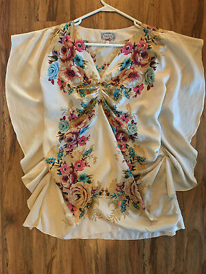 GORGEOUS & UNIQUE Anthropologie Vintage Inspired Floral Tunic, Size Small