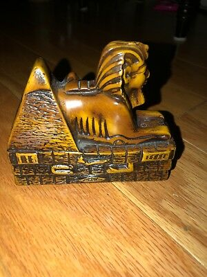 Egyptian Sphinx Statue Handmade and Coffin