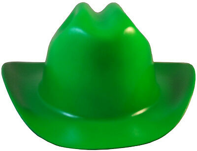 "Outlaw Cowboy Style Safety Hard Hat ""GREEN"" Ratchet Susp ANSI/OSHA Approved!"