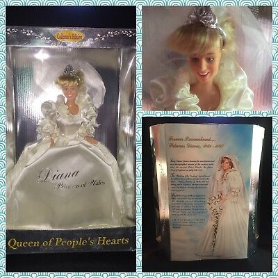 1997 Diana Princess of Wales Queen of People's Hearts Wedding Barbie Doll NIB