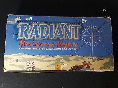 Vintage C-6 Christmas Light String Radiant Decorative Lighting Outfit