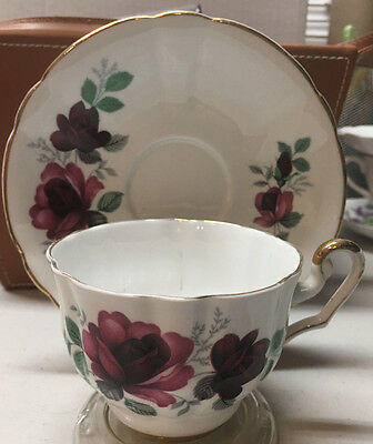 Vintage Royal Eton Staffordshire England Fine Bone China Tea Cup Saucer