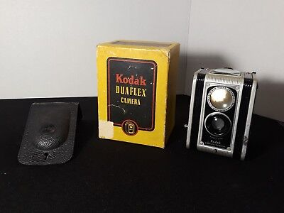 Vintage Kodak Duaflex Camera 620 Film Kodet Lens with Original Box