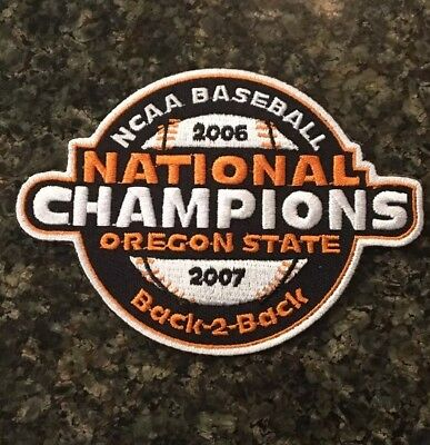 finest selection 2153e 3e35c Oregon State Beavers Baseball Jersey National Champions Patch 06-07 CWS NCAA