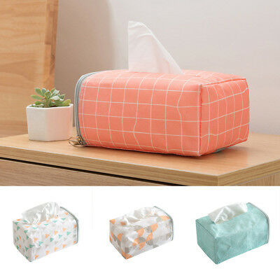 BU_ Tissue Box Home Bathroom Toilet Paper Napkin Holder Case Car Storage Bag Eye