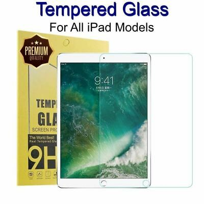 Tempered Glass Screen Protector Film for Apple iPad 2 3 4 5 6 Air 1 2 Pro 2018