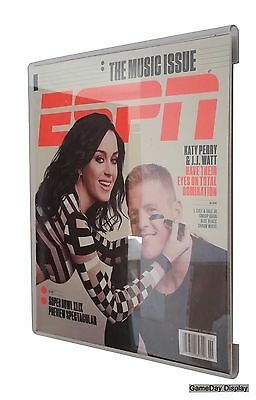 Frame Less UV Protecting Acrylic ESPN Magazine Display Case GameDay Display