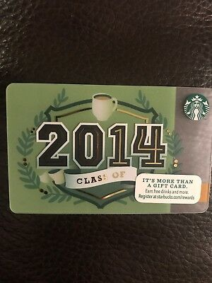 Class of 2014 Green STARBUCKS Gift Card FREE Shipping