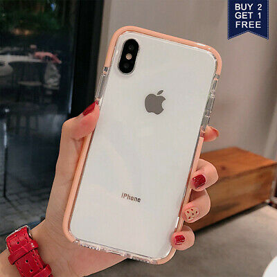 For iPhone XR 8Plus XS Max 7 Plus Crystal Clear Case Girls Lovely Soft Gel Cover